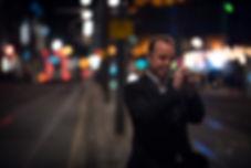 Colin Steele - trumpet, Princess street -Edinburgh