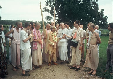 Srila Prabhupada at New Talavan
