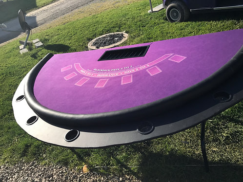 PORTABLE BLACKJACK TABLE-CUSTOM COLOR CLOTH
