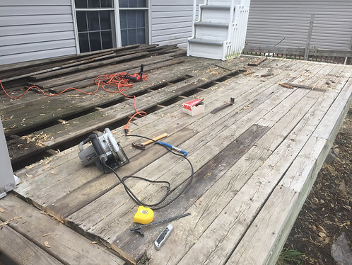Re-establishing a neglected deck