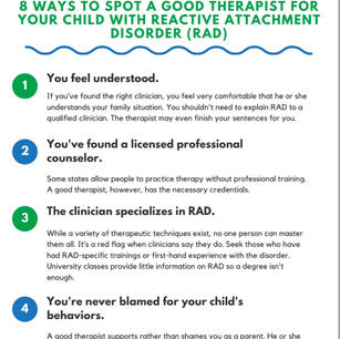 8 Ways to Spot a Good Therapist for Your Child with Reactive Attachment Disorder