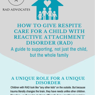 How to Give Respite Care for a Child with Reactive Attachment Disorder