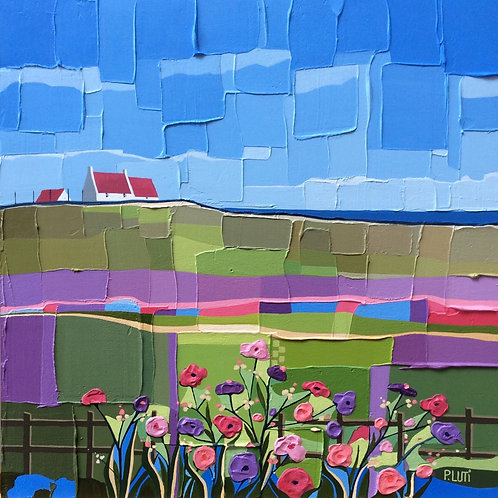 Peter Luti - Wild Flowers by the Fence ~ SOLD