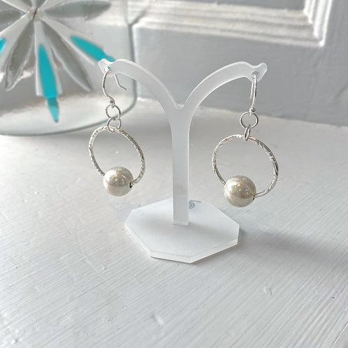 Angela Learoyd - AL125 Callisto Link Hop Earrings, Silver
