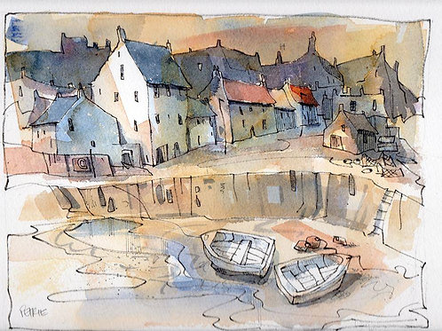 Brian Petrie - Crail Harbour ~ SOLD