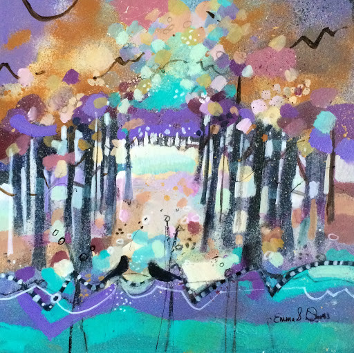 Colourful scottish art, contemporary paintings by Scottish artists - Emma S Davis