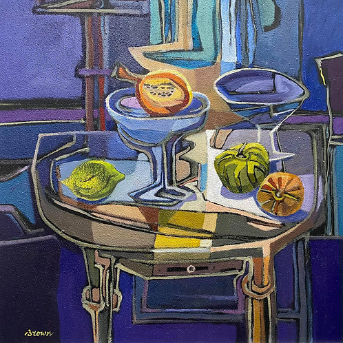 Davy Brown - Gourds on a Table
