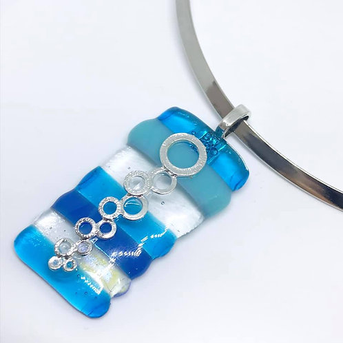 Marsha Luti - Fused Glass Bubble Pendant