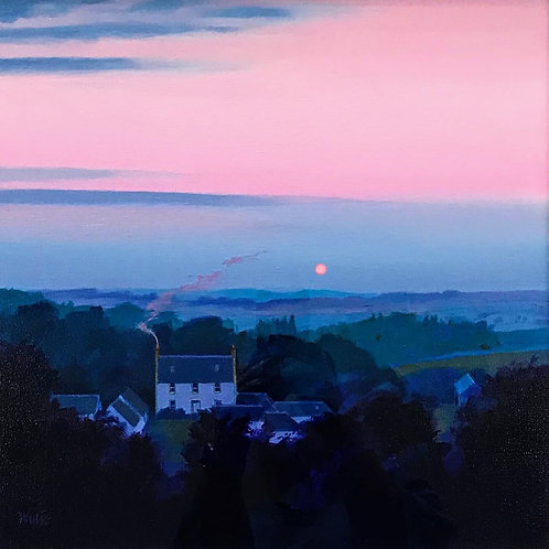 Jim Wylie - Blood Moon over Borland - SOLD