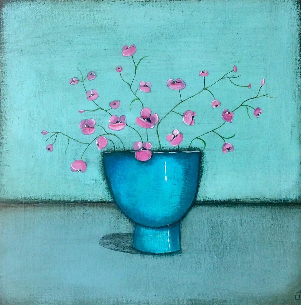 Jackie Henderson Contemporary Scottish Artist - The Blue Bowl