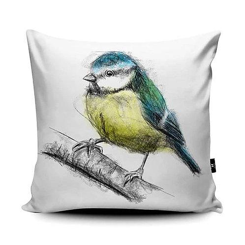 Marsha Luti - Sweet Little Blue Tit Cushion