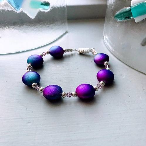 Marsha Luti - Purple Pebble Bracelet