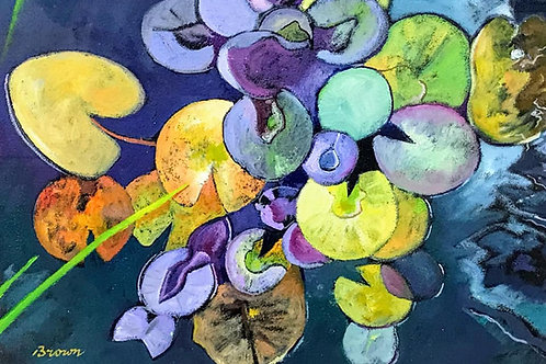 Davy Brown - Water Lillies in Autumn