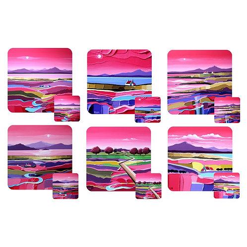 Peter Luti Coasters - Set of 6