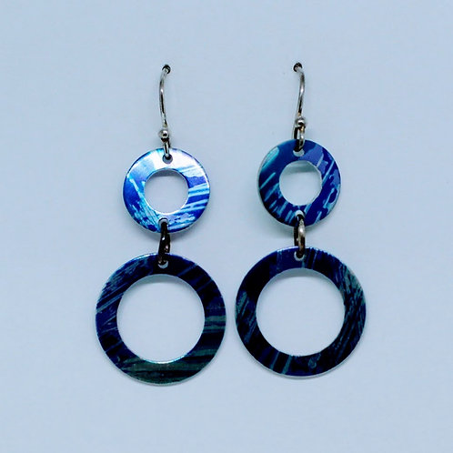 Lisa Marsella - Drop Circle Earrings