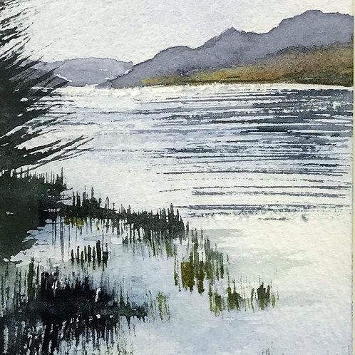Sue Lowe Miniature - Loch Lomond at Inverbeg