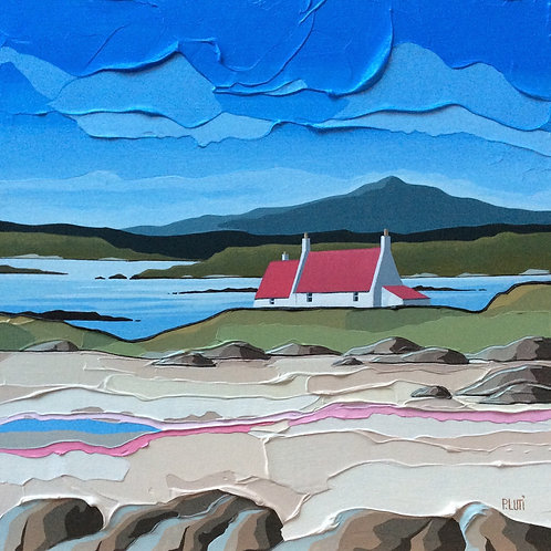 Peter Luti - The Boat Behind the Cottage ~ SOLD