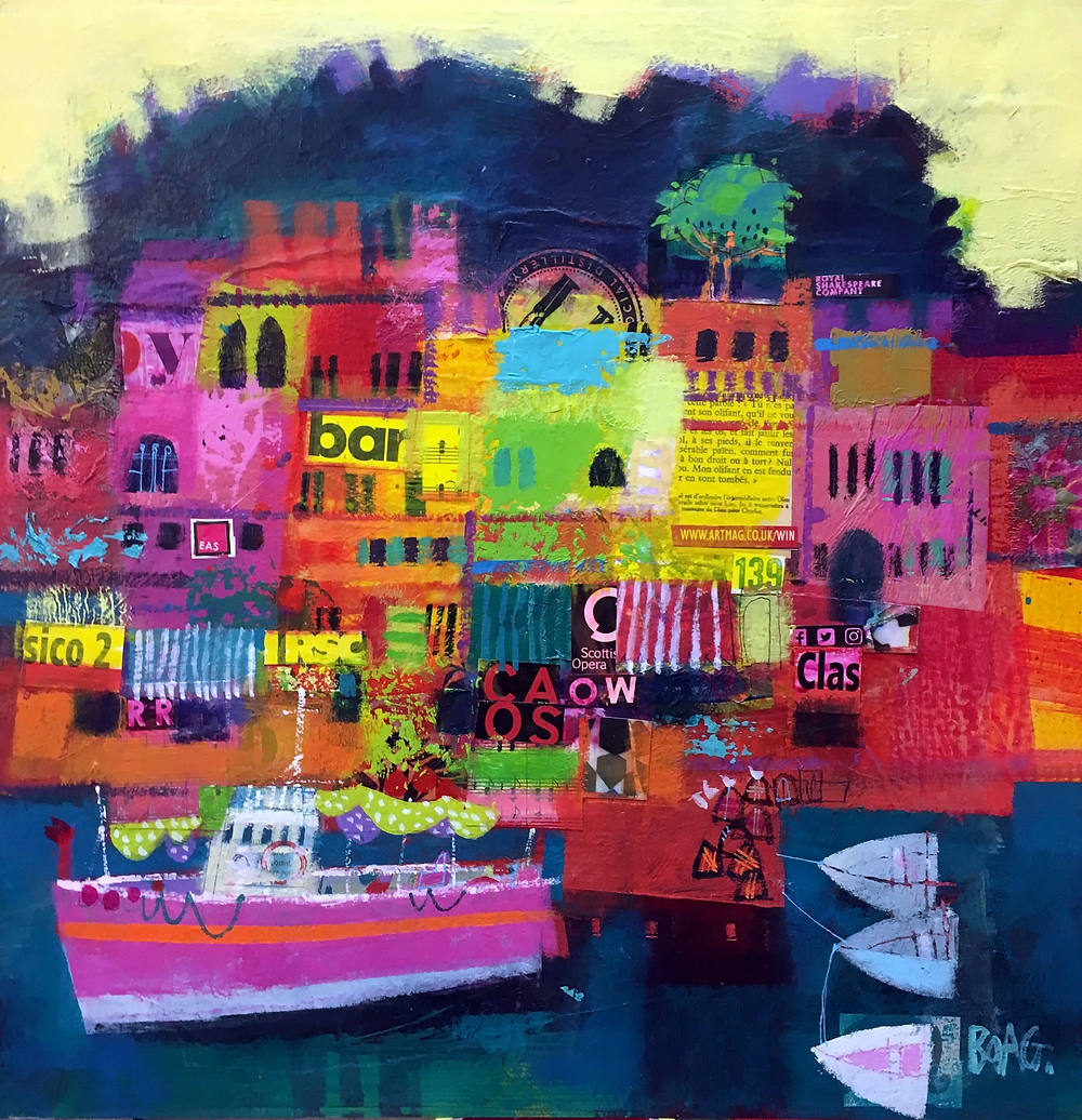 Colourful scottish art, contemporary paintings by Scottish artists - Francis Boag