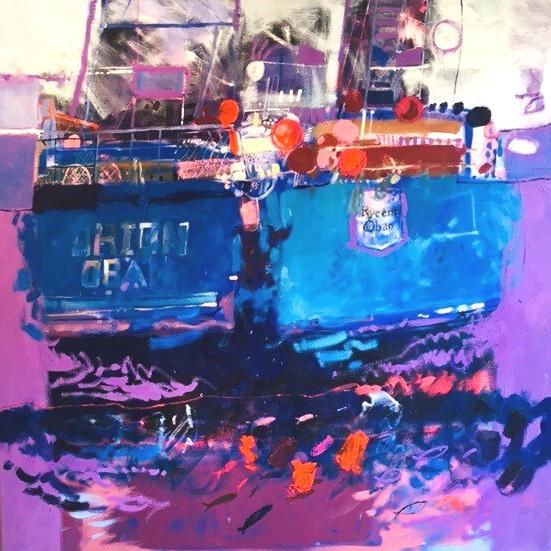 Ian Elliot contemporary Scottish Artist - Orion and Rycene Oban