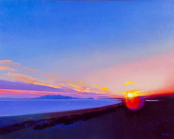 Jim Wylie Contemporary Scottish Artist - Last Ferry From Troon