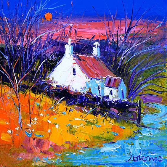 Colourful scottish art, contemporary paintings by Scottish artists - Jolomo