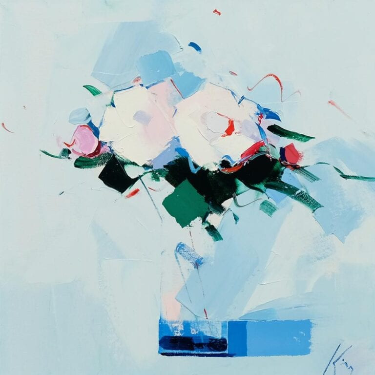 Peter King Contemporary Scottish Artist - White Roses
