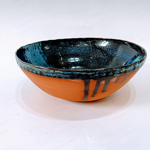 Cindy McLoughlin - Chunky Large Blue Fruit Bowl