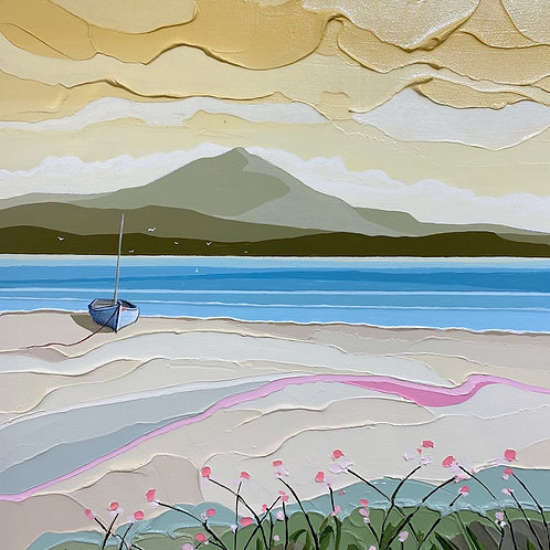 Peter Luti - Ochre Sky over the Beach