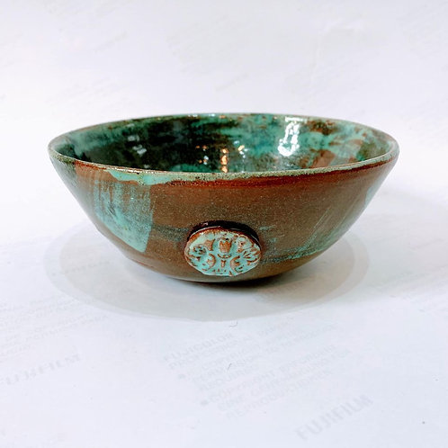 Cindy McLoughlin - Rustic Chunky Green Cereal Bowl