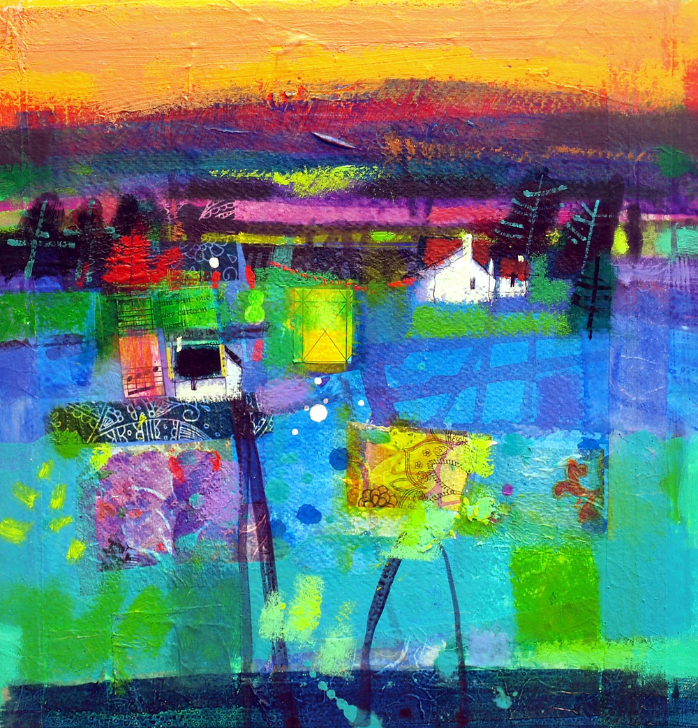 Francis Boag Contemporary Scottish Artist - Mearns Gloaming II