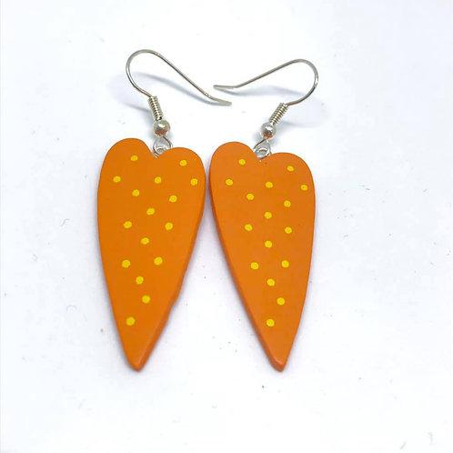 Marsha Luti - Wooden Drop Earrings
