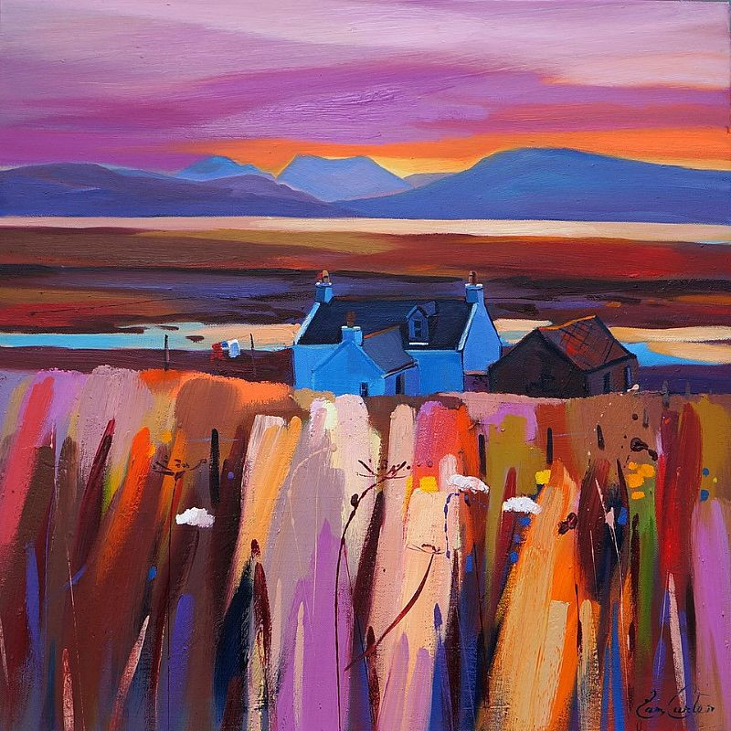 Colourful scottish art, contemporary paintings by Scottish artists - Pam Carter