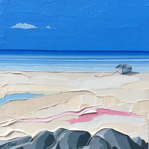 Peter Luti - Lockdown Beach with Rocks SOLD