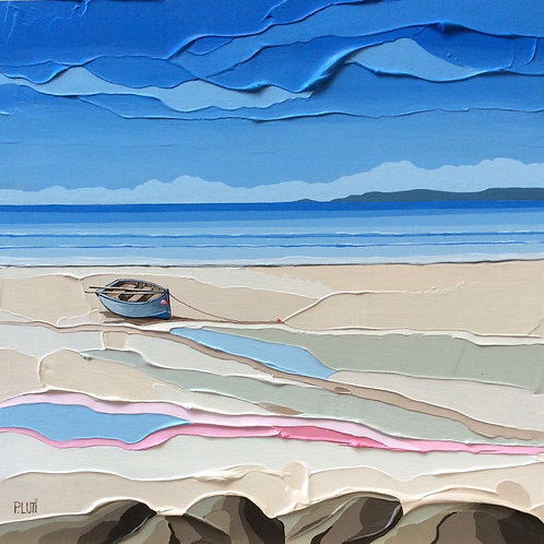 Peter Luti - Quiet Day on the Beach SOLD