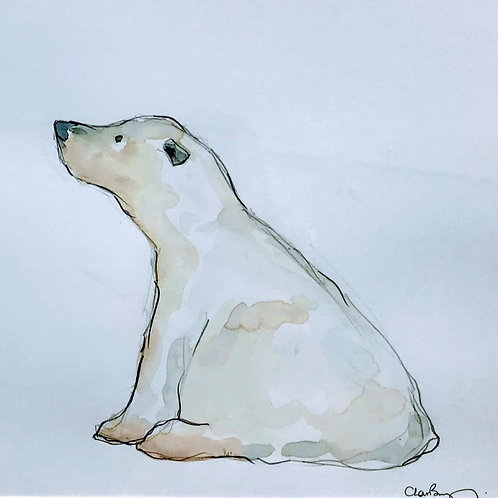 Charlotte Brayley - Reflective Polar Bear   - SOLD