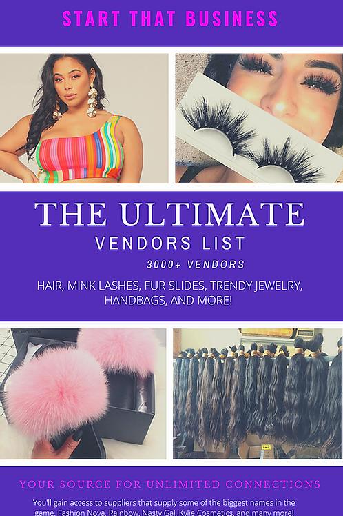 Ultimate Wholesale Vendors List