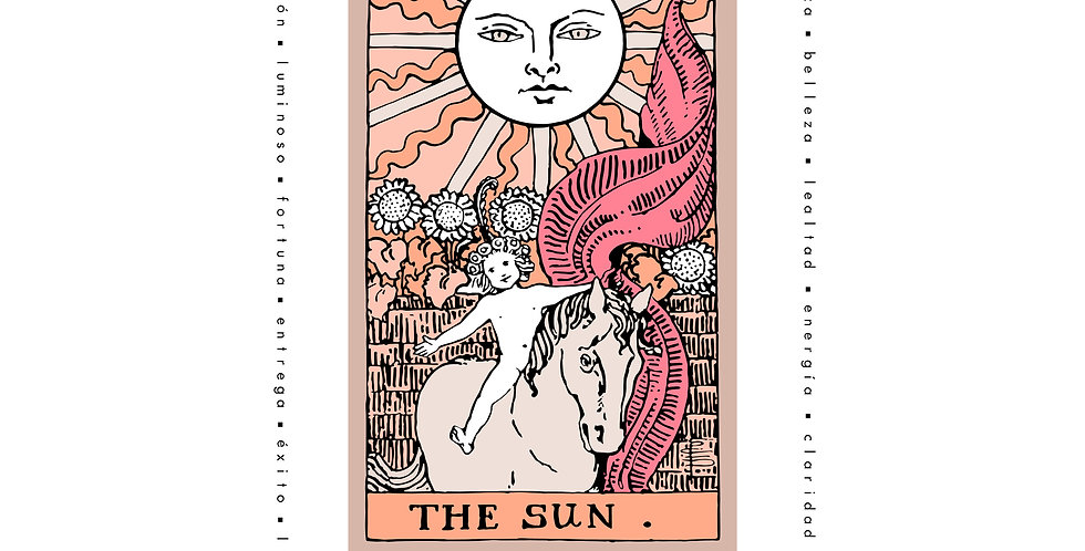 "Playera Carta Tarot ""The Sun"""