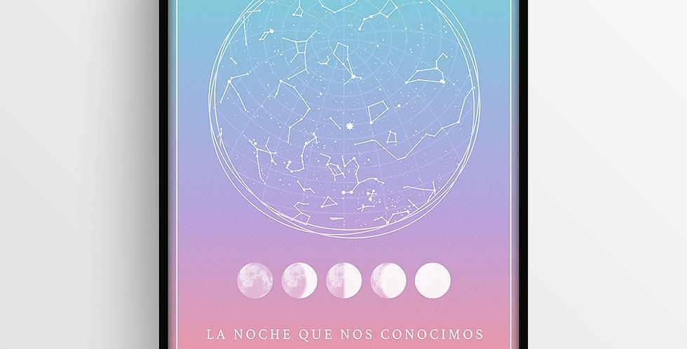 Mapa de Estrellas con Marco: Degradado Chico