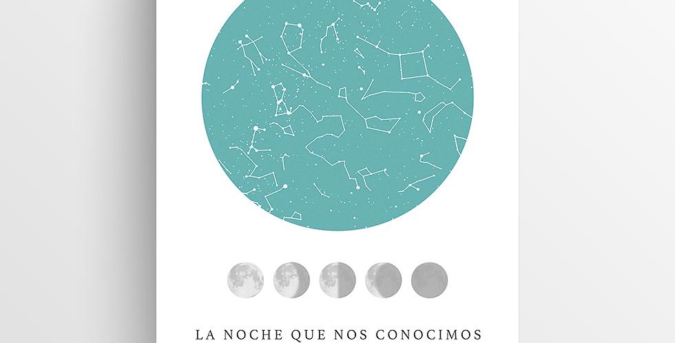 Mapa de Estrellas Impreso: Lunar Grande