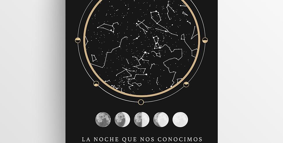 Mapa de Estrellas Impreso: Copper