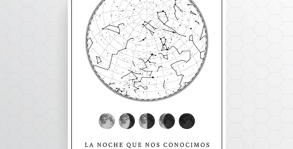 Mapa de Estrellas Digital: White