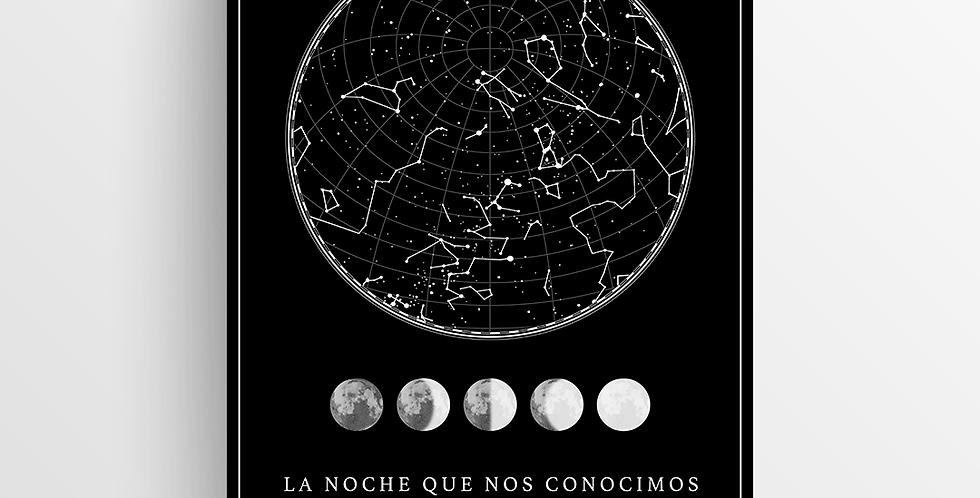 Mapa de Estrellas Impreso: Black