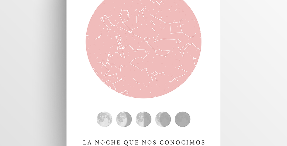Mapa de Estrellas Impreso: Lunar Chico