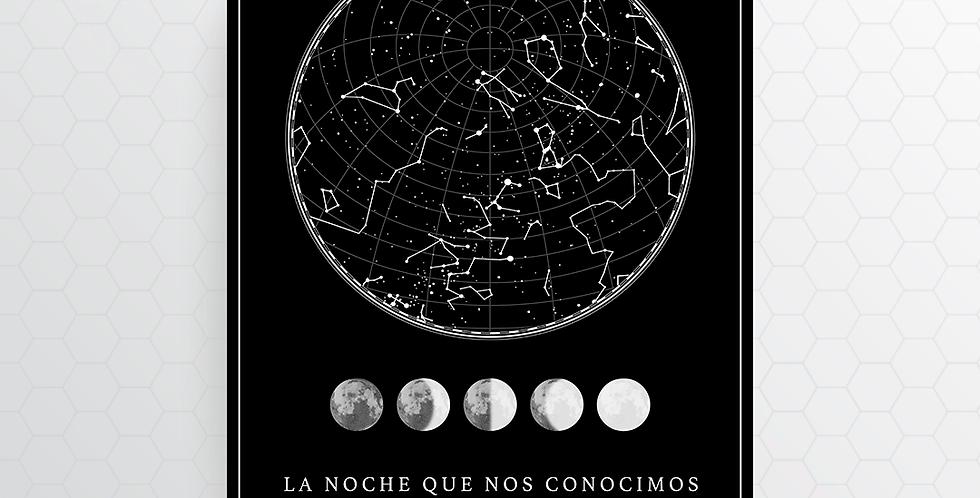 Mapa de Estrellas Digital: Black