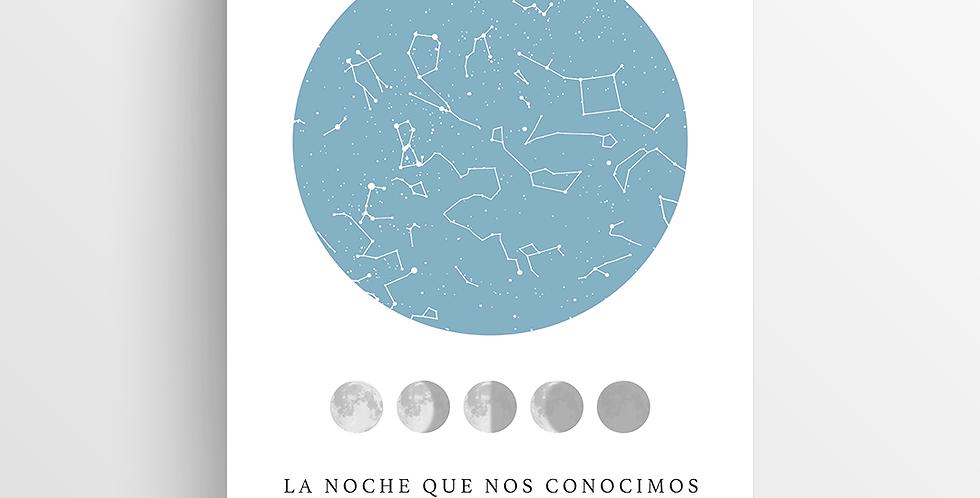 Mapa de Estrellas Impreso: Lunar Mediano