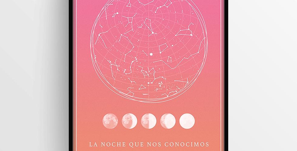 Mapa de Estrellas con Marco: Degradado Mediano
