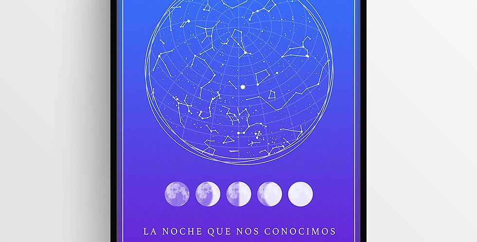 Mapa de Estrellas con Marco: Degradado Grande
