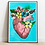 Thumbnail: Serigrafía Corazón Tropical Ilustración