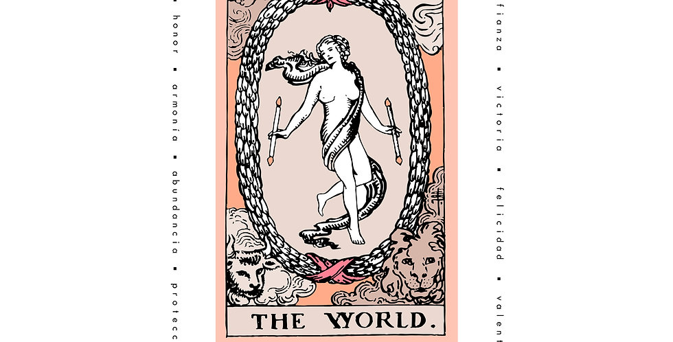 "Playera Carta Tarot ""The World"""