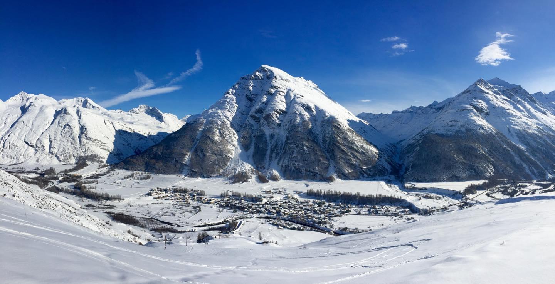 panorama Bessans hiver